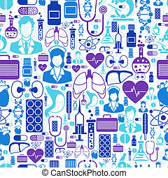 salute, medico, pattern., seamless, cura