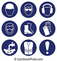 salute, sicurezza, icone