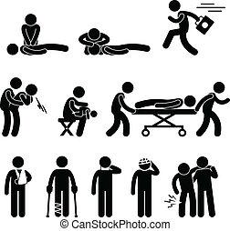salvataggio, emergenza, aiuto, cpr, primo, aiuto