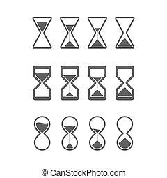 sandglass, clessidra, icone