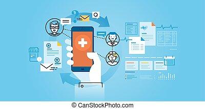 sanità, mobile, app