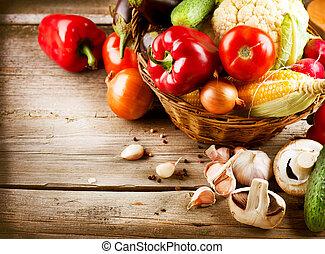 sano, bio, cibo organico, vegetables.