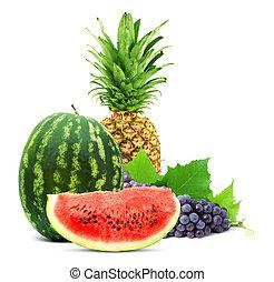 sano, frutta fresca, colorito