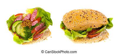 sano, panino, delizioso