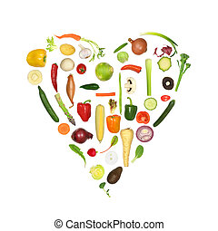 sano, verdura, cuore