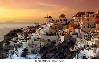 santorini, oia, grecia, villaggio