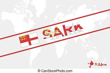 sark, bandiera, testo, illustrazione, mappa