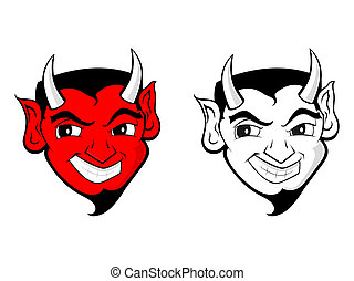 satana, diavolo, arte, /, clip