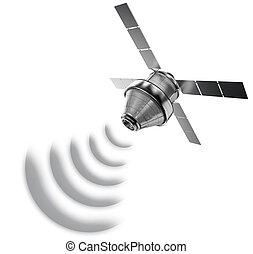 satellite, isolato