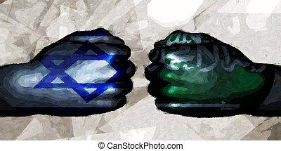 saudita, vs, arabia, israele