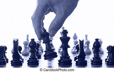 scacchi, mano, asse