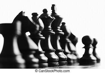 scacchi, regina, indietro, fuoco