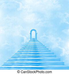scala, dio, cielo, condurre