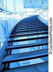 scala, entrata, centro commerciale