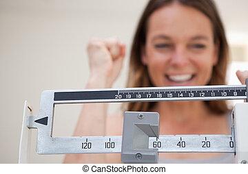 scala, esposizione, perdita, peso