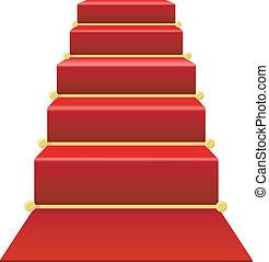 scala, moquette rossa