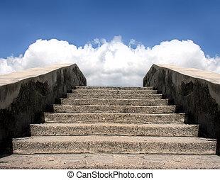 scala, pietra, cielo