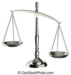 scale, giustizia, isolato, clipp, fondo, bianco, argento