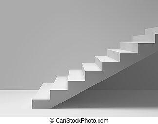 scale, stanza, vuoto