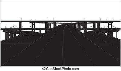 scambio, autostrada