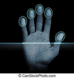 scanner, impronta digitale