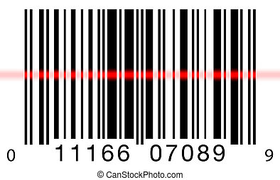 scansione, bianco, barcode