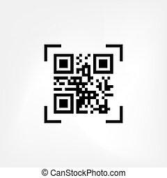 scansione, codice, qr