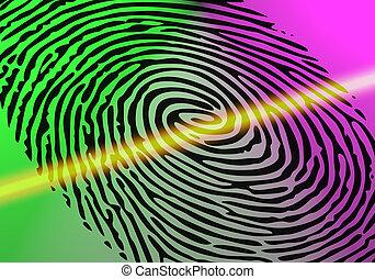 scansione, impronta digitale