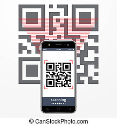 scansione, qr-code, smartphone