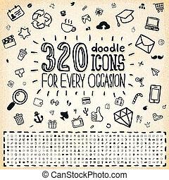 scarabocchiare, 320, universale, icone