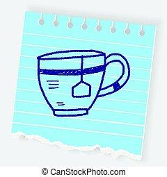 scarabocchiare, caffè, tè