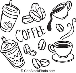 scarabocchiare, caffè
