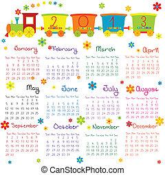 scarabocchiare, calendario, 2013