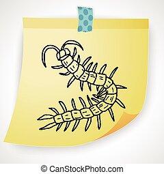 scarabocchiare, centopiedi