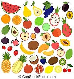 scarabocchiare, collezione, frutte
