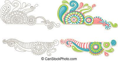 scarabocchiare, colorito