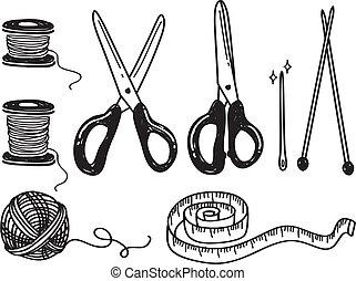 scarabocchiare, cucito, kit
