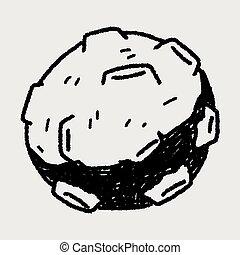 scarabocchiare, meteora