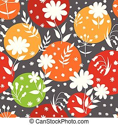 scarabocchiare, moderno, copia, fondo., pattern., stile, modelli, modello, cornici, seamless, set, vettore, space., fiori, imballaggio, disegno, gentile, primavera, leaves., floreale, mascherine