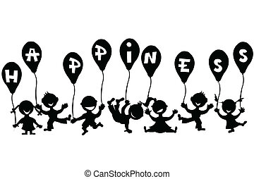 scarabocchiare, palloni, bambini