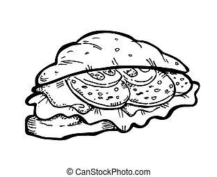 scarabocchiare, panino