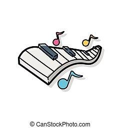 scarabocchiare, pianoforte, giocattolo