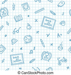 scarabocchiare, scuola, carta, quaderno, modello