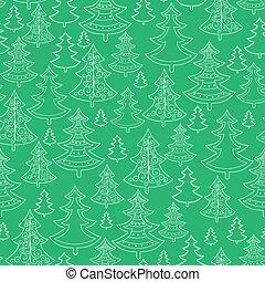 scarabocchiare, seamless, albero, motivi dello sfondo, natale