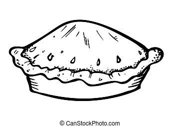 scarabocchiare, stile, torta