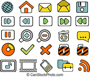 scarabocchiare, web, 40, icone