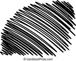 scarabocchio, doodles, linee, smears
