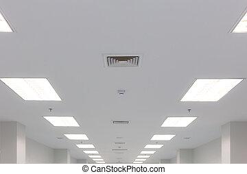 scarico, soffitto, illuminazione, louver