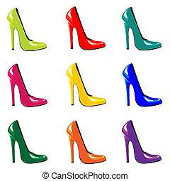 scarpe, colorato