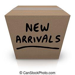 scatola, arrivi, prodotti, nuovo, cartone, merce, recentissimo